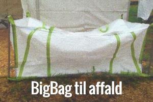 BigBag til affald og byggeaffald
