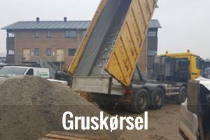 Kørsel af grus, 06 grus, stabilgrus, harpet grus, bundsætnings grus mm. i Odense og Fyn